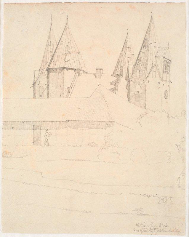 Skitse af Vor Frue Kirke