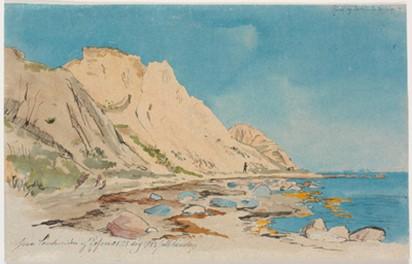 Lundbye: Hellede Klint, 1843.