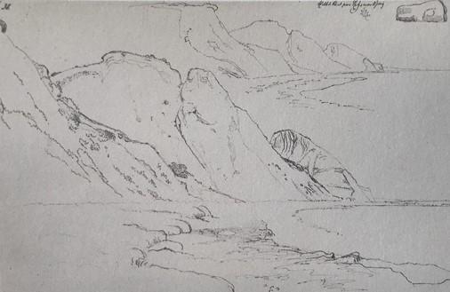 Lundbye: Hellede Klind paa Refsnæs', 1847