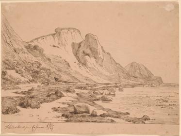 Lundbye: Hellede Klint på Refsnæs, 1847.
