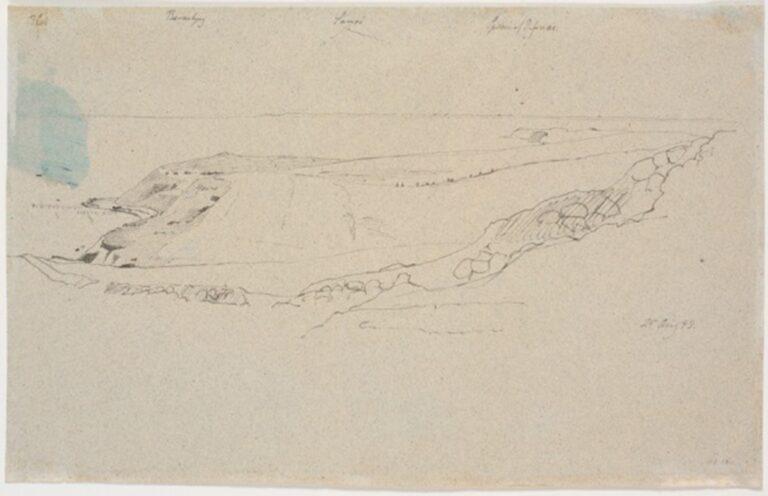 Udsigt over Refsnæs mod Samsø, aug. 1843