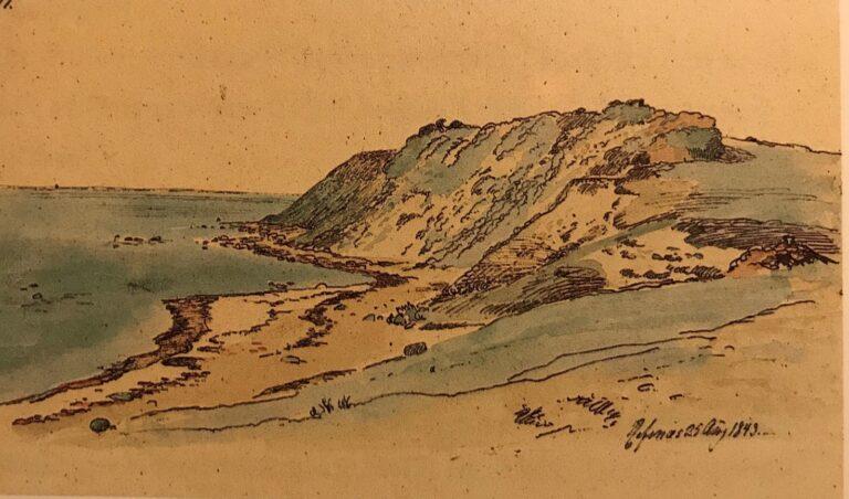 'Landskab fra Refsnæs', 1843