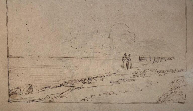 Stranden ved Refsnæs, studie 1847