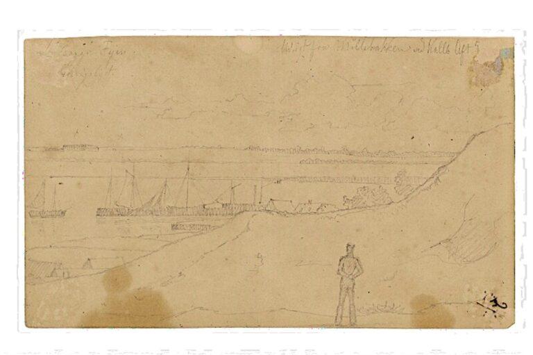 Udsigt fra Møllebakken, 6. august 1837