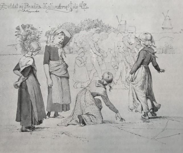 Soldat og Paradiis, Kallundborg 3. Juli 1847. Kobberstiksamlingen