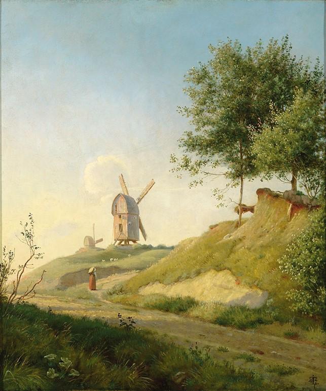 Forstudie til Møllebakken ved Kallundborg. 1846-47
