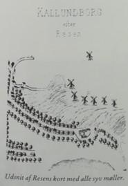 Udsnit af Resens kort fra 1688