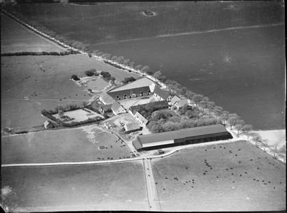 Luftfoto af Hedvigslyst 1936