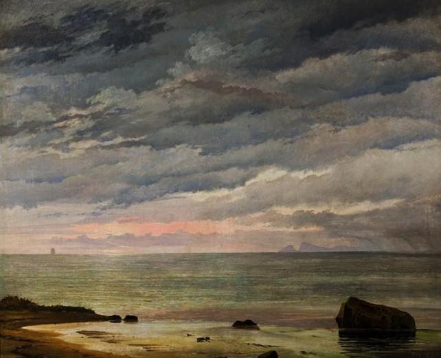 Den opgaaende Sol over Havet, 1838
