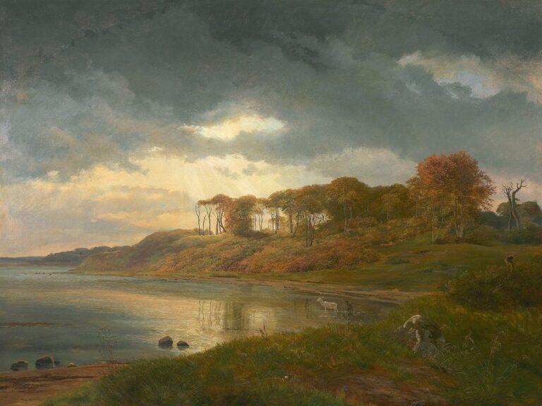 Bugt ved Kallundborg Fjord ved Asnæs Skov, December 1839