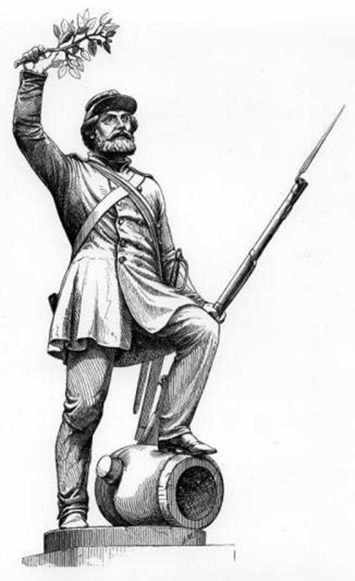 Billede 2 - Bissens statue 'Den tapre landsoldat', 1858