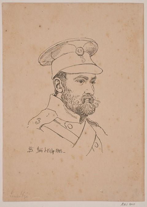 Billede 4 – P. C. Skovgaards tegning af Lundbye, april 1848