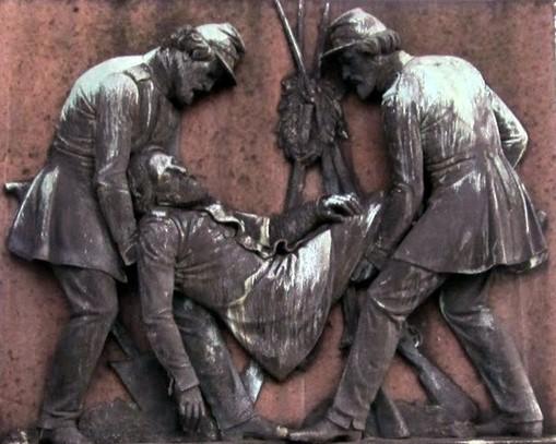 Billede 5 – H.W. Bissens relief på krigergraven fra 1849 i Fredericia