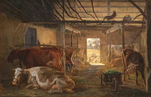 J. Th. Lundbye, En Kostald i en Bondegaard. Vejby. 1843-44