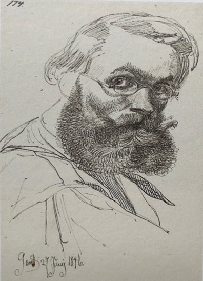 Selvportræt, Gent 1846