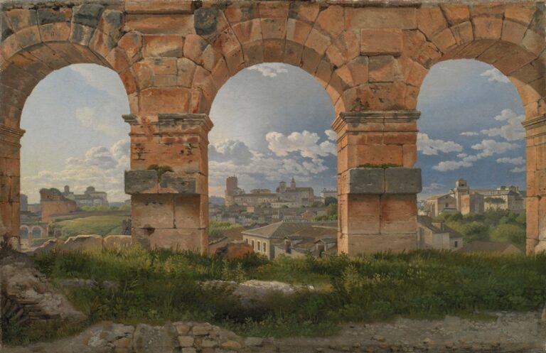 C. W. Eckersberg, Udsigt gennem tre buer i Colosseums 3. stokværk, 1815. SMK