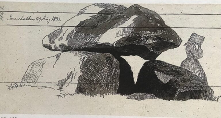Dysse ved Snarebanken ved Reerslev, 1842