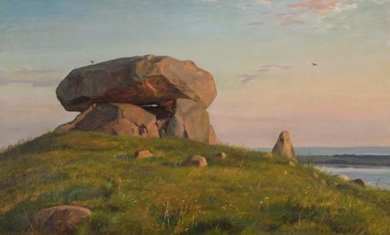 Carl Bloch 'Kæmpehøj ved Refsnæs', 1858