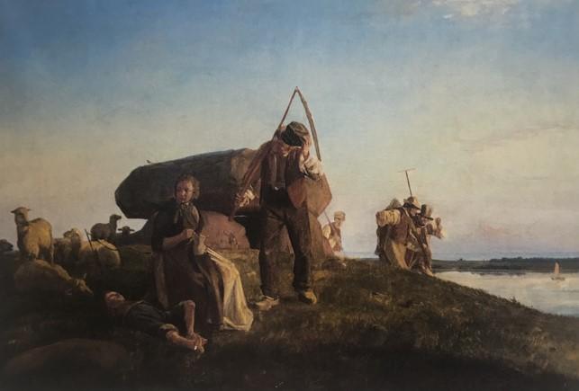 Carl Bloch, 'Kæmpehøj ved Refsnæs', 1858