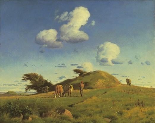 J. Th. Lundbye: 'Efterårslandskab. Hankehøj ved Vallekilde', 1847