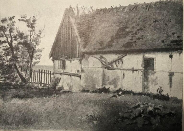 Længe af Bondegaard ved Refsnæs' Kyst. 1847