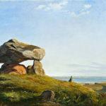Lundbye: En Gravhøj fra Oldtiden ved Raklev på Refsnæs, 1839